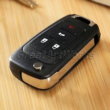 4 Buttons Replacement Remote Flip Key Fob Shell Case Uncut Blade for CHEVROLET
