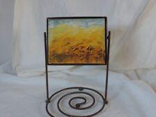 Sculpture huile sur toile et métal, paysage, fond atelier, signée Daigre