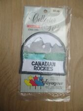 CANADIAN ROCKIES mountain embroidered souvenir badge patch NEW
