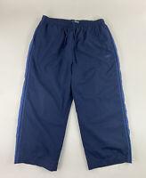 """REEBOK - Men's Size XL Windbreaker Pants, Mesh Lining, Navy Blue, 26""""ins HEMMED"""