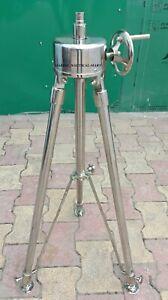 Chrome Finish Nautical Steel Tripod Stand For Telescope,Spot Light