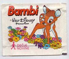 BAMBIE UNOPENED STICKER PACKET BAG bustina DISNEY DECJE NOVINE PANINI 1979