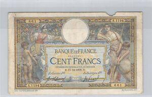 100 Francs Merson 17-12-1909 A.1194 n° 29825661 Fayette 23(01)