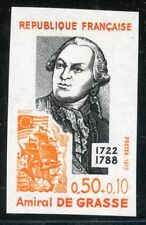STAMP / TIMBRE FRANCE NEUF N° 1727 ** NON DENTELE / MNH / AMIRAL DE GRASSE