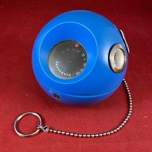 Vintage Blue Panasonic Panapet 70 Radio Tested Works W/ Original Chain