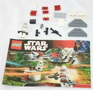 Lego Star Wars 7655 For Parts Only! Missing Pieces w Instruc Manual & 1 Mini Fig