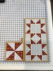 Table topper with Pot holder handmade quilt block
