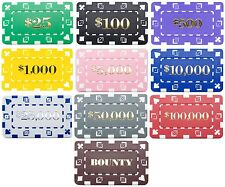 25 Ct Square Rectangular 32 Gram Poker Plaques Blanks or Denominated Pick Chips