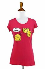 Photography T Shirt L Juniors Pink Say Cheese! Tourist Knit Top SELF ESTEEM