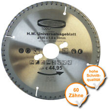 Multi Sägeblatt 190x30,0 mm 60 Zähne universal Kreis-Säge-Blatt Hand-Kreis-Säge