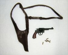 DID 1/6th Scale WW2 U.S. Army Metal S & W Revolver With Shoulder Strap - Donald