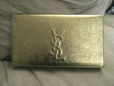 NWOT YSL Saint Laurent Belle Du Jour METTALIC GOLD Leather Clutch Handbag AUTH