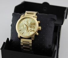 NEW AUTHENTIC DIESEL FLARE DOUBLE DOWN GOLD CHRONOGRAPH MEN'S DZ5435 WATCH