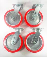"8"" x 2"" Polyurethane on Aluminum Caster - Swivel (4EA)"