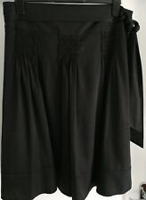 Ladies M&S Size 16 Black Lined Gypsy Style Skirt