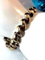 FABULOUS ITAOR ITALY 925 STERLING SILVER GOLD WASH FACETED MAGNETIC BRACELET