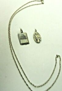 Lot of 3 Genuine .925 Sterling Silver Items 2 Pendant 1 Chain 6.3g