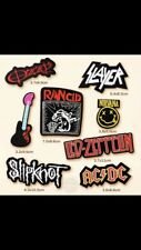 Set Of 8 Job Lot ROCK BAND Music Themed Woven Iron On Cloth Embroidered Patches