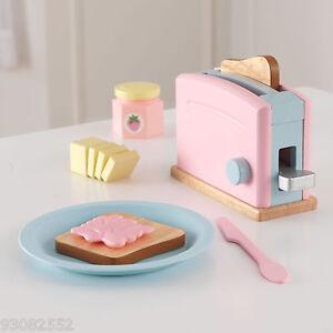 Kidkraft Wooden Pastel Toaster --- Pretend Kitchen Play
