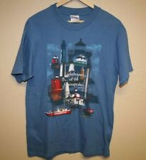 mens vintage lighthouses of the Chesapeake t-shirt fits like Small s 1997 Boat