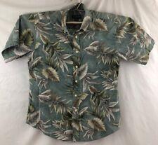 Palm Tree Floral Leaves Aloha Friday Hawaiian Shirt David Taylor Vacation M