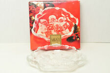 Christmas MIKASA Frosted Snack Dish Christmas Carolers Collection