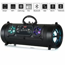 Portable Wireless LED Bluetooth Speakers Stereo Loud Bass Subwoofer USB TF AUX