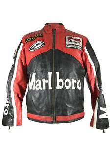 Vintage Marlboro leather motorcycle jacket medium