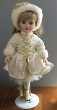 Beautiful Vintage Brass Key Victorian Star Collection Porcelain Doll Ice Skater