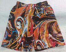 Nike swim trunks shorts youth sz XL black/orange/blue vintage liquid NEW NWT