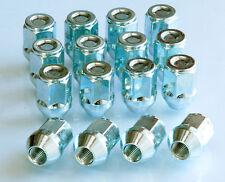 Set of 16 x M12 x 1.5, 19mm Hex, Taper wheel nuts lugs bolts