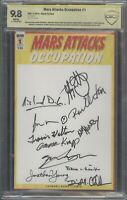 Mars Attacks Occupation #1 CBCS 9.8 Signed by 11 Aliencon Ancient Aliens