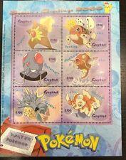 Guyana- Season's Greetings Water Pokemon Stamp -Sheetlet of 6 Sc#3571