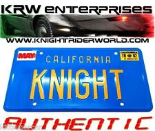 "1982-92 PONTIAC FIREBIRD KNIGHT RIDER K2000 KITT ""KNIGHT"" ACCURATE LICENSE PLATE"