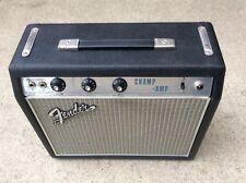 FENDER VINTAGE RARE TUBE AMP CHAMP DRIP EDGE SILVER FACE 60'S BLACK AA764