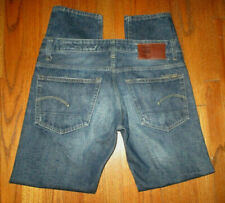 G-STAR RAW 3301 Red Selvedge Tapered Leg Button-Fly Jeans Sz 34x31