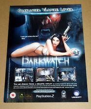 DARKWATCH ORIGINAL magazine advert poster PLAYSTATION 2 X BOX GAME 2005