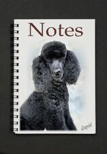 Poodle (Black) Notebook/Notepad with a small image on every page - by Starprint