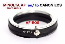 AF  EOS  Minolta AF Sony Alpha Objektiv Lens Adapter an -To Canon EOS Kamera EF