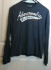 Abercrombie & Fitch Long Sleeve Shirt Blue MUSCLE Mens Large Big Daddy