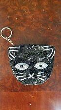 Kitty Cat Coin Purse Black