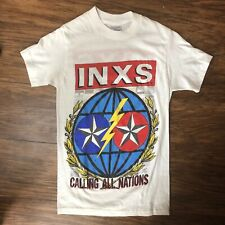 Vintage 80s INXS T Shirt Guns in the Sky Size Small Hutchence Original