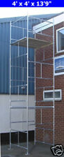 "DIY Scaffold Tower 6m (4' x 4' x 19'9"" WH) Galvanised Steel"