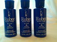 Lot of 3 Rubee  Hand & Body Lotion Cream 2 oz. - Vitamin E (Purse Size) Gift