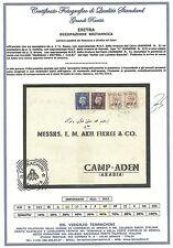 Occupazioni 1942 Eritrea MEF Busta da Massaua ad Aden Mista Nairobi Cairo OCC001