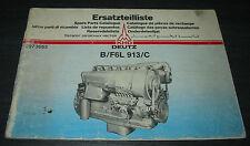 Ersatzteilliste Deutz Diesel Motor B / F6L 913/C  Parts Catalogue Stand 10/1980