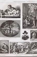 Aurora-Cupids-Last Communion St Jerome-Ecce Homo- Italian Painting PRANG 1879