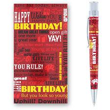 Retro 51 Tornado Greetings Birthday Red Rollerball Pen