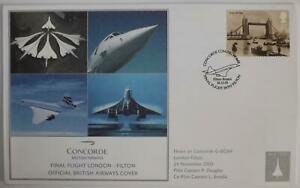 One  Concorde Final Flight Official British Airways Cover London-Filton G-BOAF
