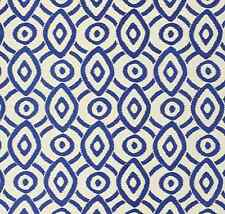 .WILLIAM YEOWARD DESIGNERS GUILD FABRIC VALENTINA INK EMBROIDERED LINEN